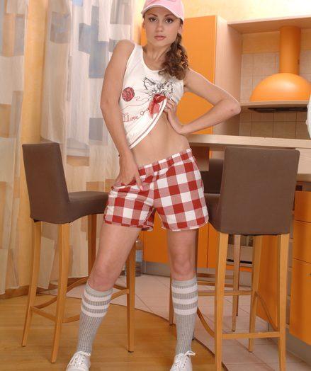 Sexy cutie undressing