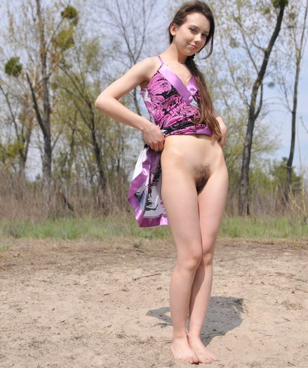 Delicious sweetheart outdoors