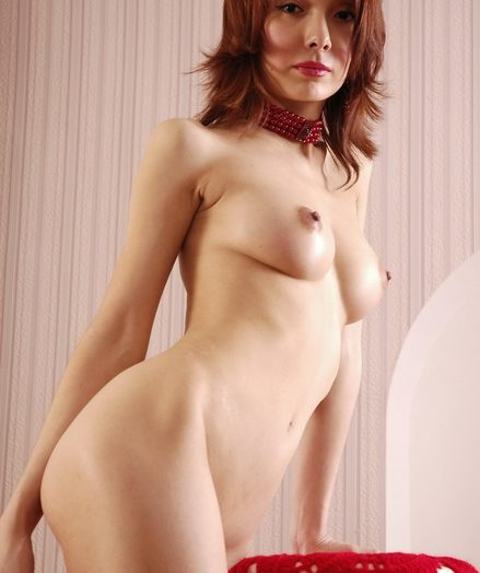 Breathtaking puny red-haired youthfull