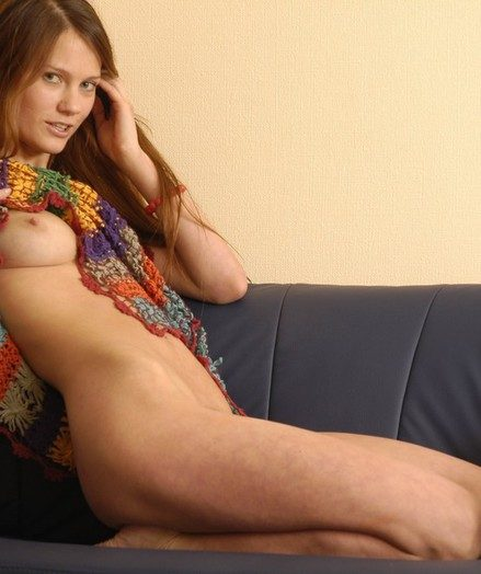 Sandy-haired important stunner showcasing her vag