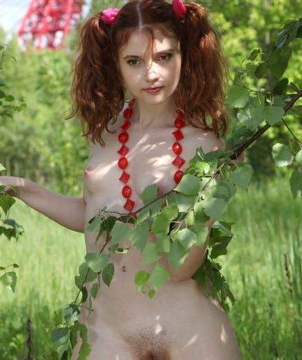 Nubile on the nature