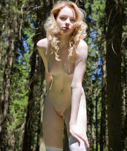 Lovely naked teenager