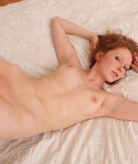 Phenomenal ginger-haired stunner