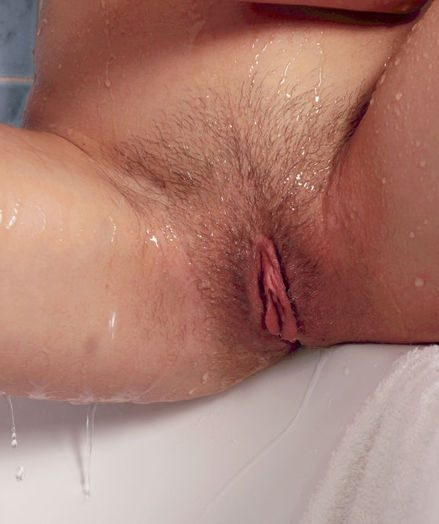 Undressing in the shower