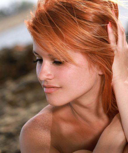 Sandy-haired skies